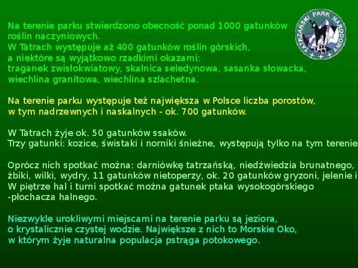 Parki narodowe w Polsce - Slajd 17