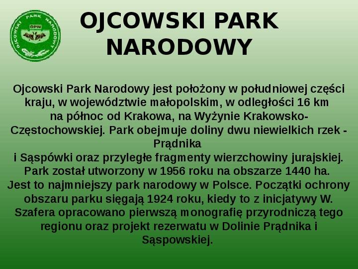 Parki narodowe w Polsce - Slajd 18