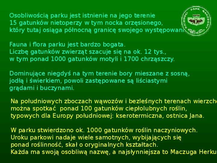 Parki narodowe w Polsce - Slajd 20