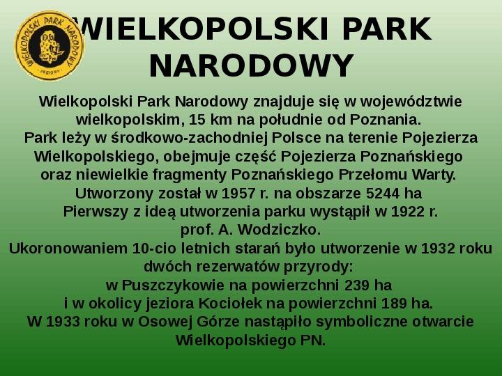 Parki narodowe w Polsce - Slajd 21