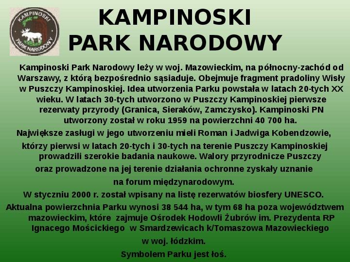 Parki narodowe w Polsce - Slajd 23