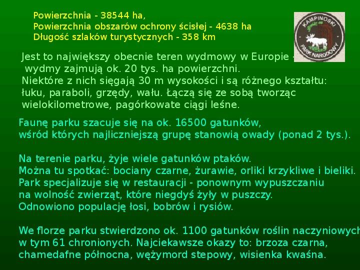 Parki narodowe w Polsce - Slajd 24