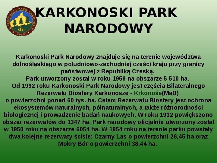 Parki narodowe w Polsce - Slajd 25