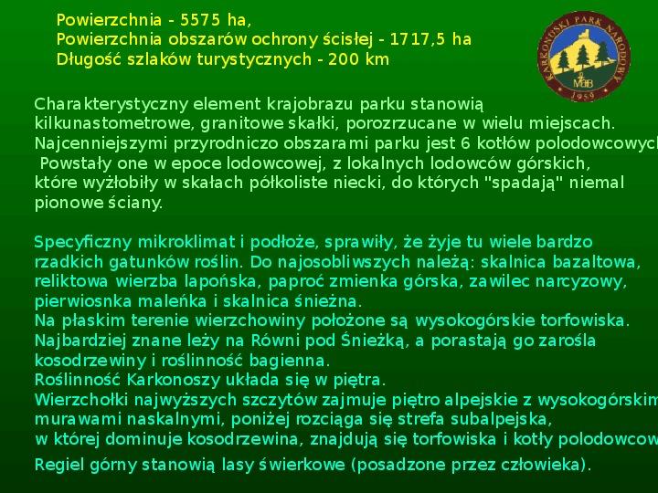 Parki narodowe w Polsce - Slajd 26