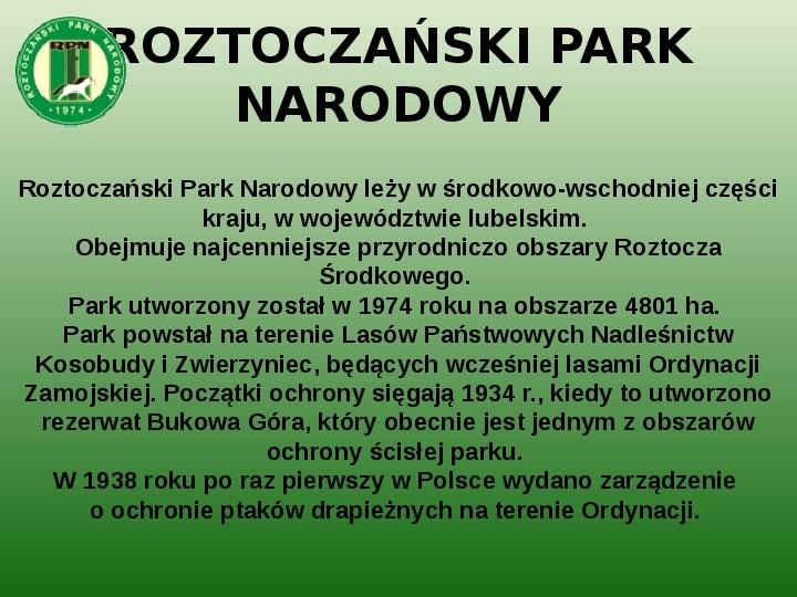 Parki narodowe w Polsce - Slajd 33