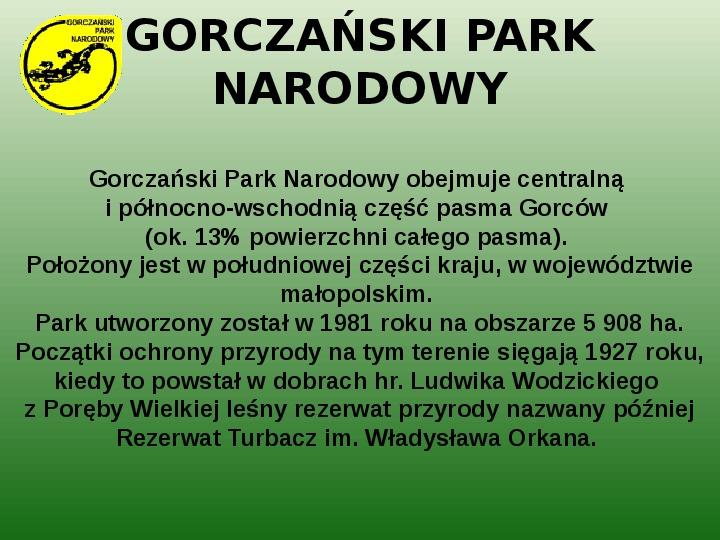 Parki narodowe w Polsce - Slajd 35