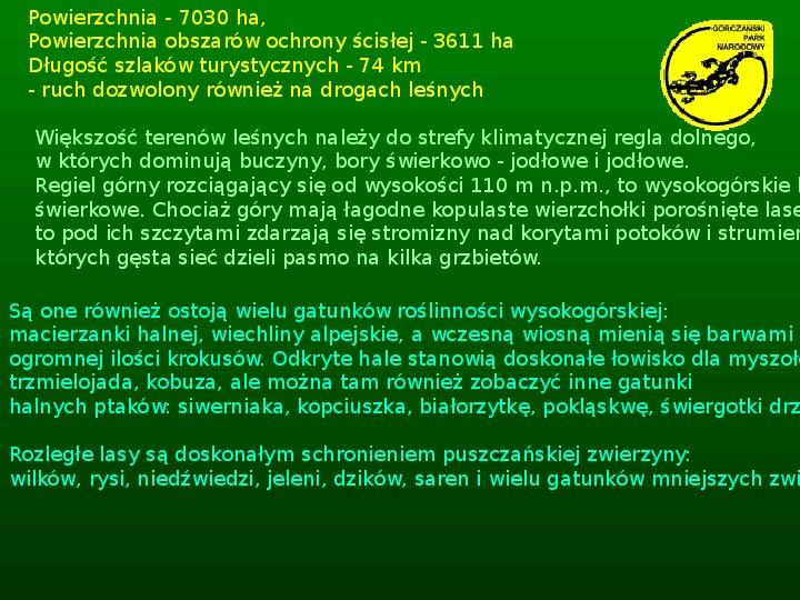 Parki narodowe w Polsce - Slajd 36