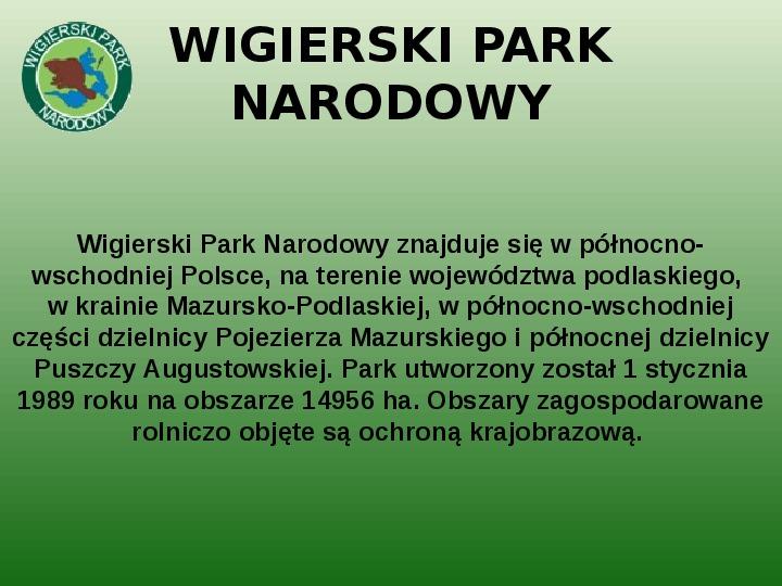 Parki narodowe w Polsce - Slajd 37