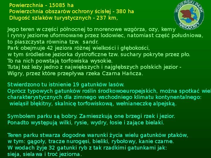 Parki narodowe w Polsce - Slajd 38