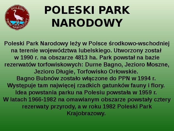 Parki narodowe w Polsce - Slajd 41