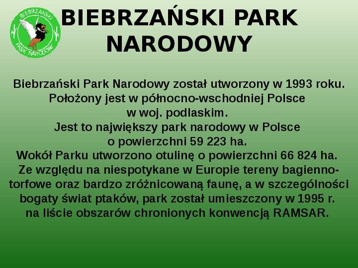 Parki narodowe w Polsce - Slajd 43