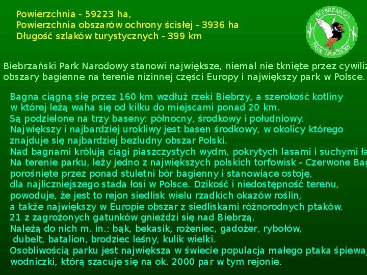 Parki narodowe w Polsce - Slajd 44