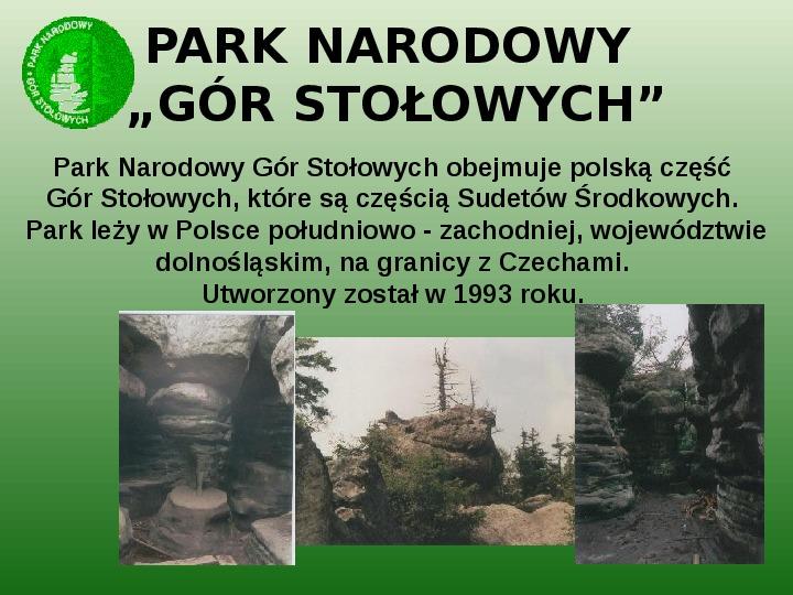 Parki narodowe w Polsce - Slajd 45