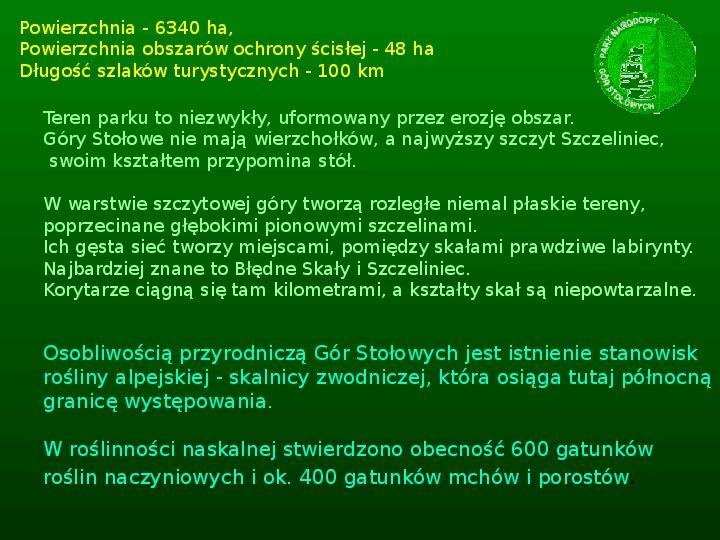 Parki narodowe w Polsce - Slajd 46