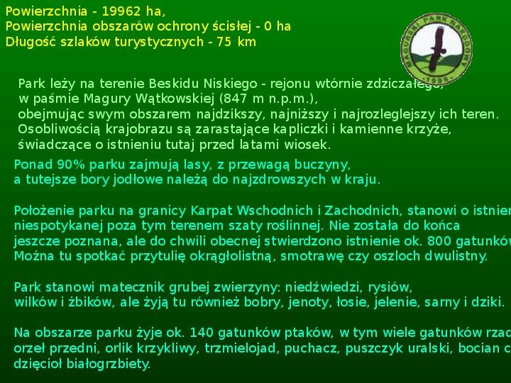 Parki narodowe w Polsce - Slajd 48