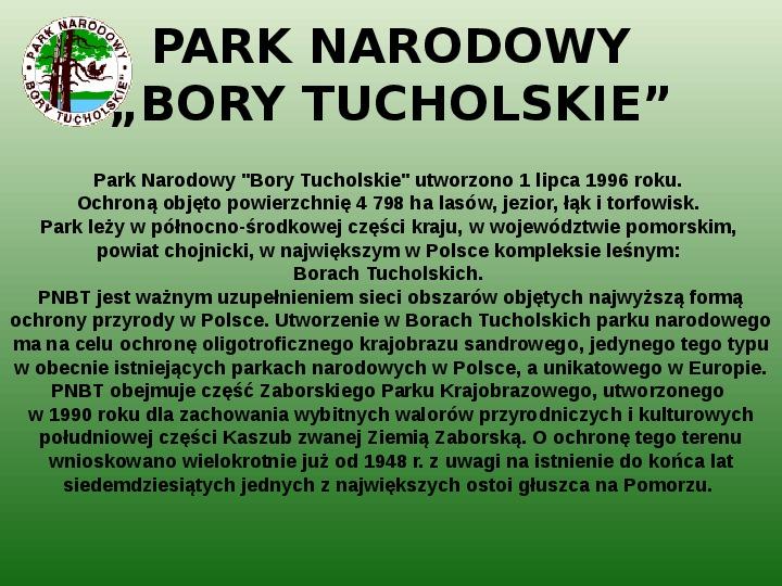 Parki narodowe w Polsce - Slajd 49