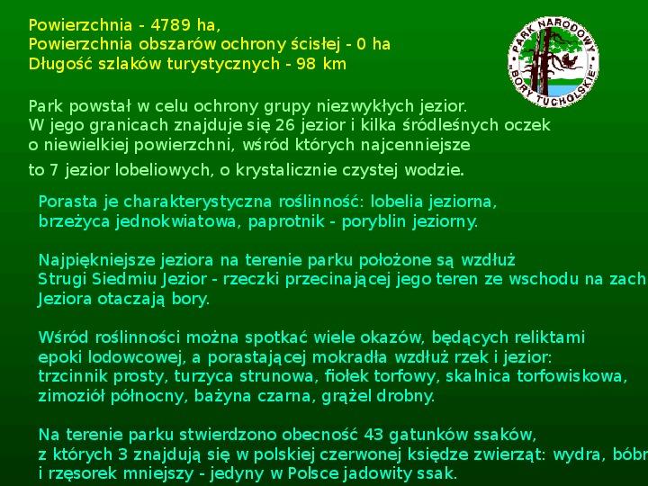 Parki narodowe w Polsce - Slajd 50