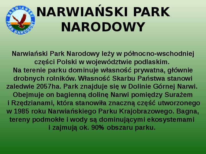 Parki narodowe w Polsce - Slajd 51