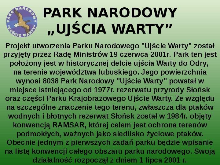 Parki narodowe w Polsce - Slajd 53