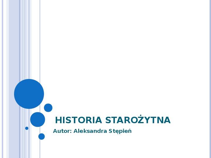 Historia starożytna - Slajd 1