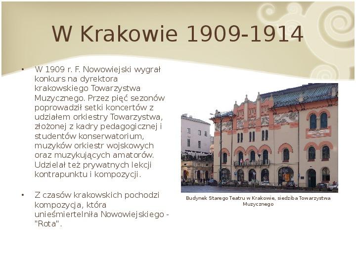 Feliks Nowowiejski - Slajd 7