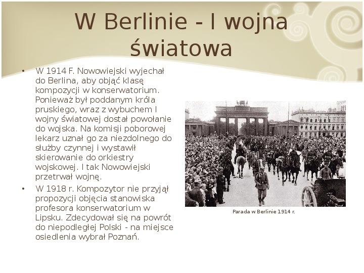 Feliks Nowowiejski - Slajd 8