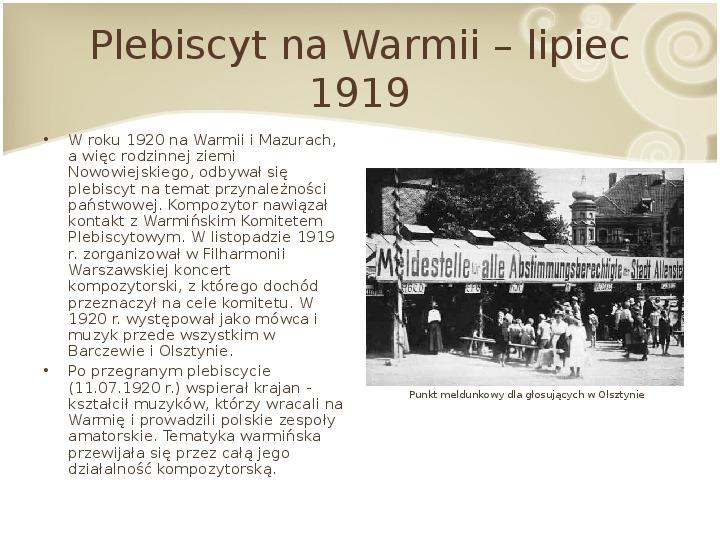 Feliks Nowowiejski - Slajd 9