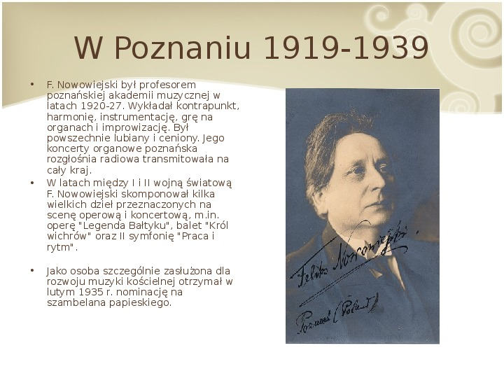 Feliks Nowowiejski - Slajd 12
