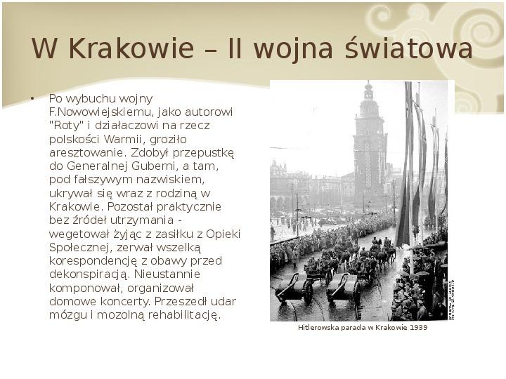 Feliks Nowowiejski - Slajd 13