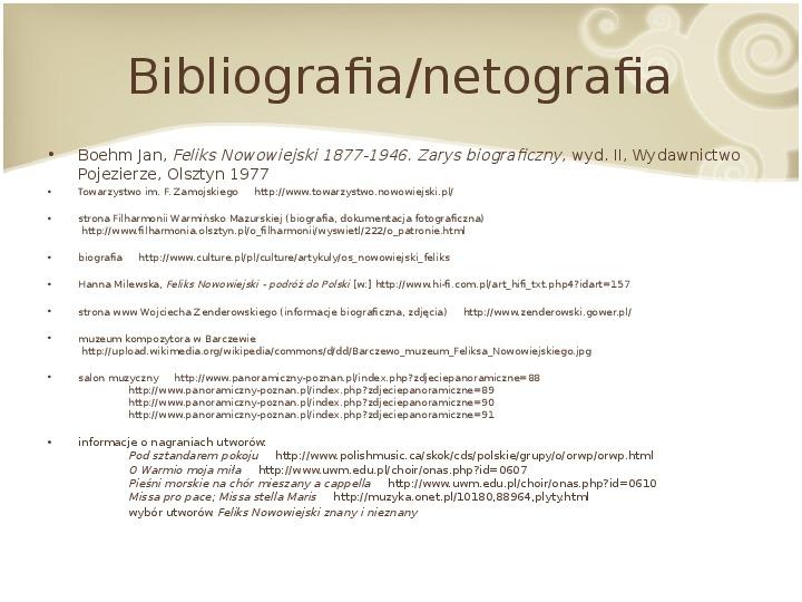 Feliks Nowowiejski - Slajd 17
