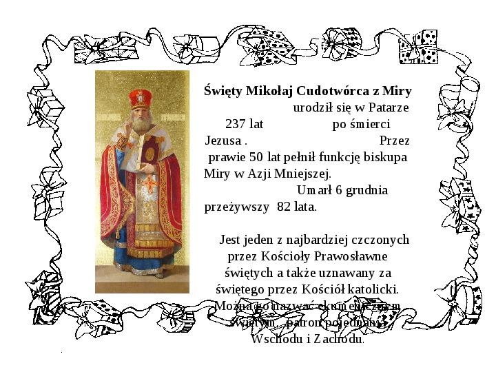 Historia Św. Mikołaja - Slajd 8
