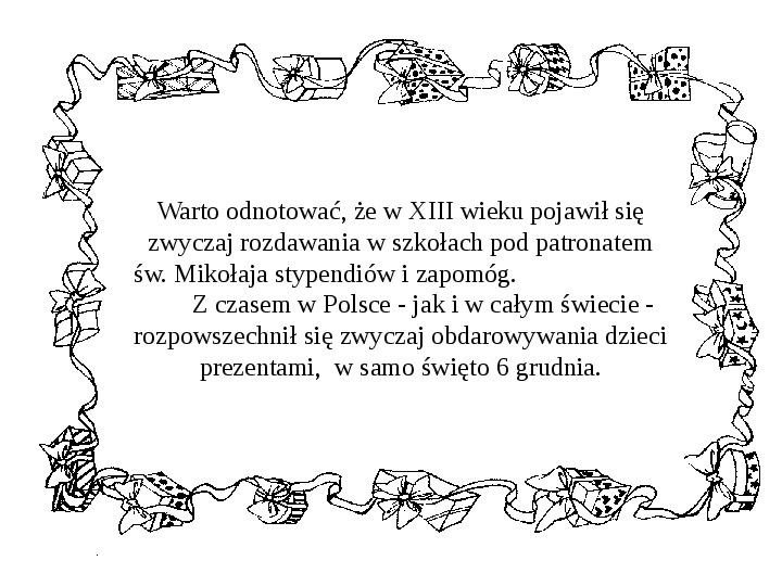 Historia Św. Mikołaja - Slajd 18