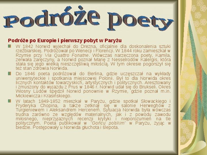 Cyprian Kamil Norwid - Slajd 10
