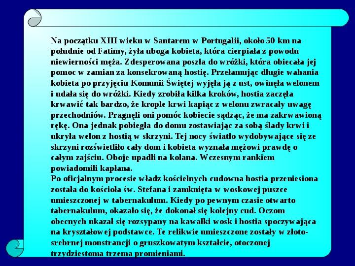 Cuda eucharystyczne - Slajd 11