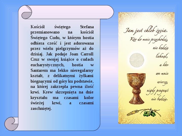 Cuda eucharystyczne - Slajd 13