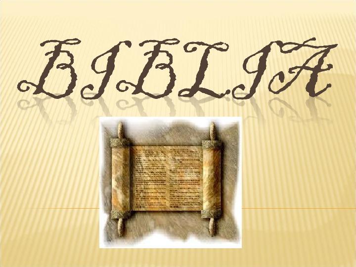 Biblia - Slajd 1