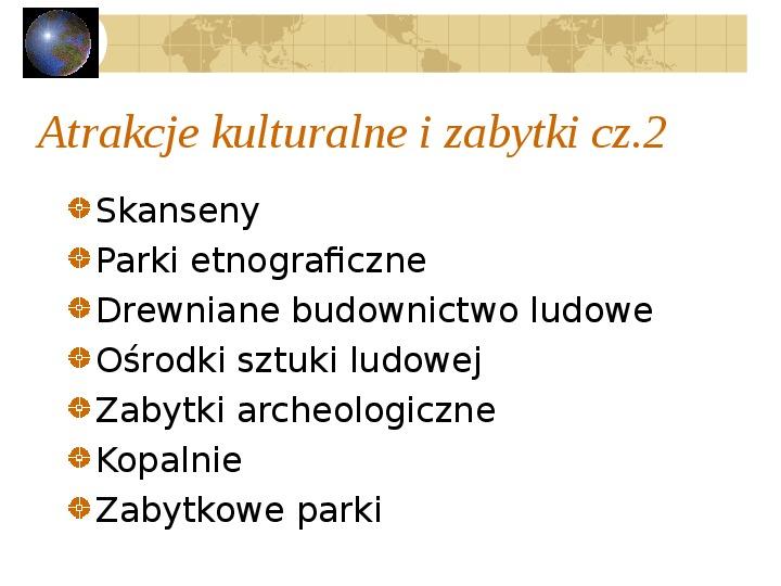 Atrakcje turystyczne Polski - Slajd 5