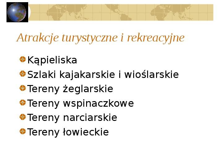 Atrakcje turystyczne Polski - Slajd 6