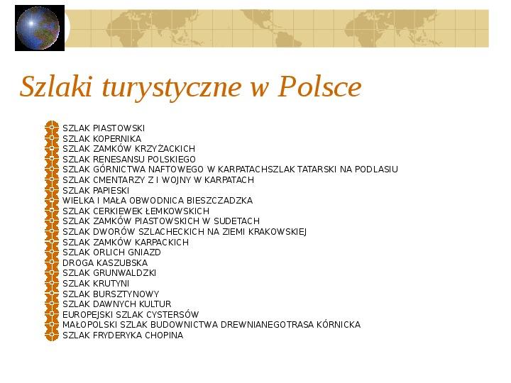 Atrakcje turystyczne Polski - Slajd 60