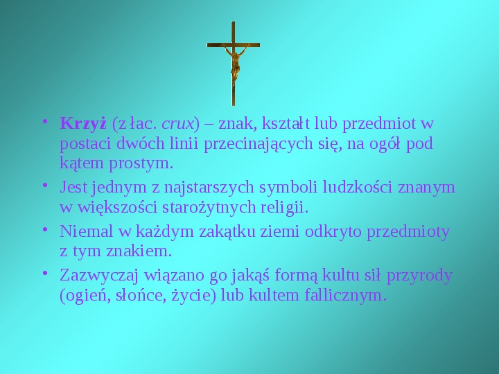 Krzyże i monogramy - Slajd 1