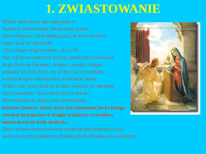 Jan Paweł II – rozważania różańcowe - Slajd 2