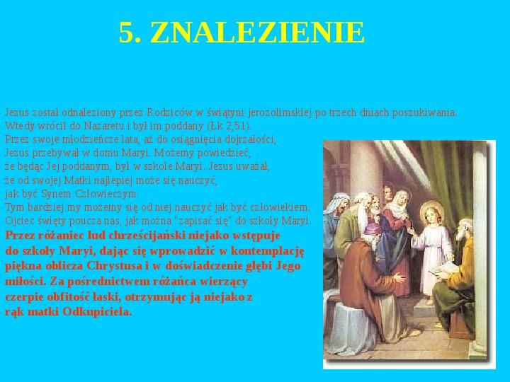 Jan Paweł II – rozważania różańcowe - Slajd 6