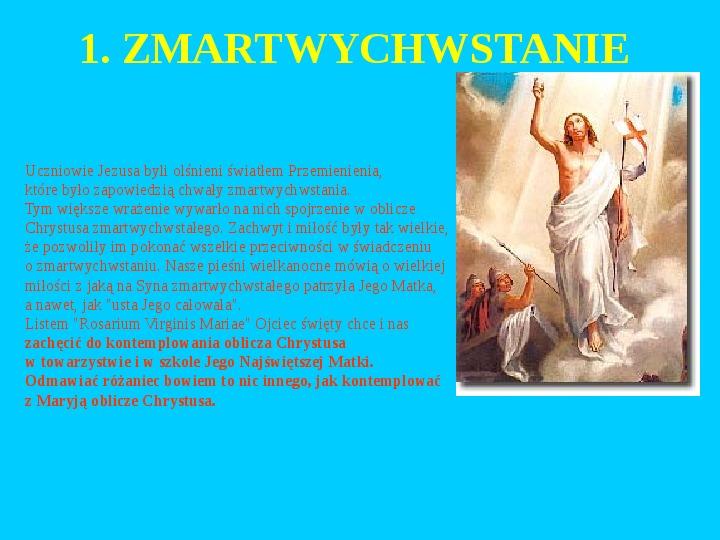 Jan Paweł II – rozważania różańcowe - Slajd 20