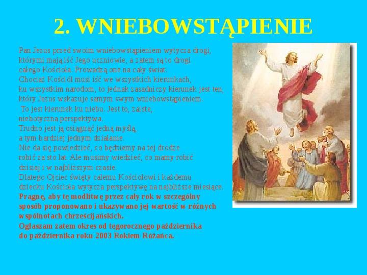 Jan Paweł II – rozważania różańcowe - Slajd 21