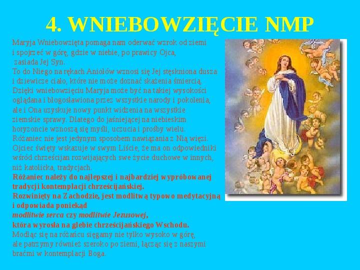 Jan Paweł II – rozważania różańcowe - Slajd 23