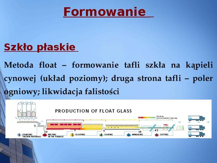 Składy chemiczne szkieł przemysłowych - Slajd 9