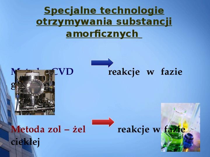 Składy chemiczne szkieł przemysłowych - Slajd 13