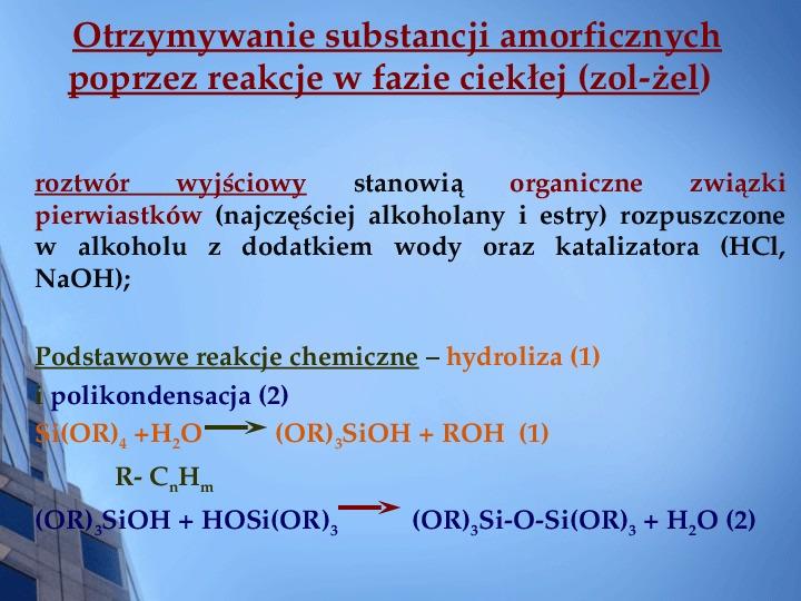 Składy chemiczne szkieł przemysłowych - Slajd 16