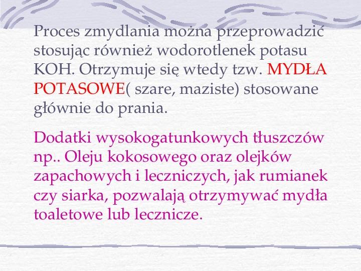 Mydła i inne środki piorące - Slajd 7