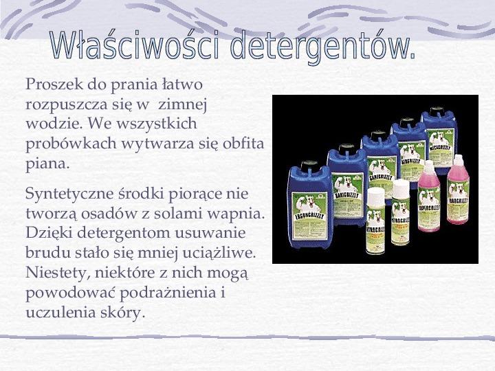 Mydła i inne środki piorące - Slajd 10
